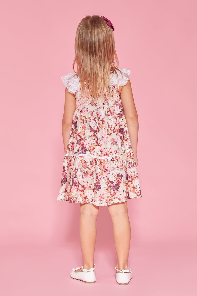 Lace Floral Party Dress