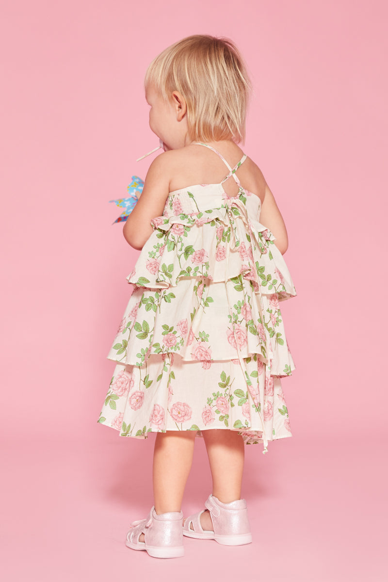 Rosewater Ruffle Tier Dress