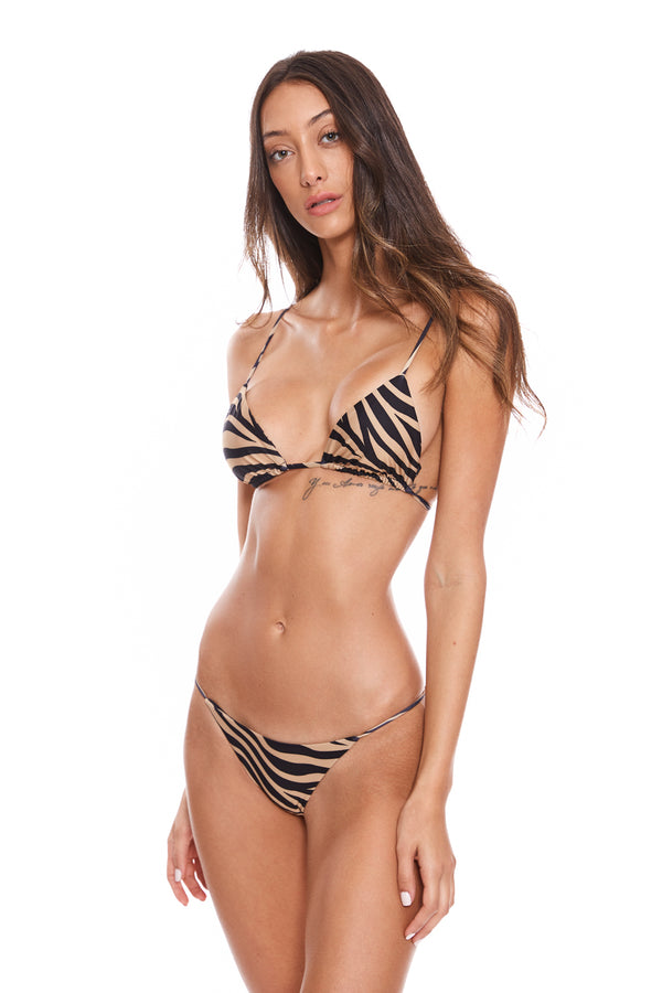 Triangle Top Zebra Nude