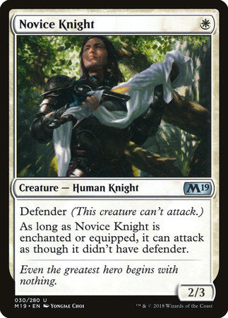 Novice Knight [Core Set 2019] | Gaming Kingdom ON