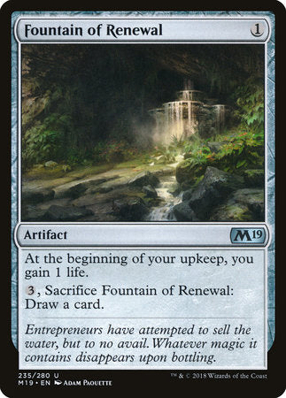 Fountain of Renewal [Core Set 2019] | Gaming Kingdom ON