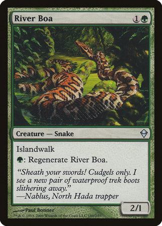 River Boa [Zendikar] | Gaming Kingdom ON