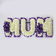 White Based Flower Letters With Colour Spray