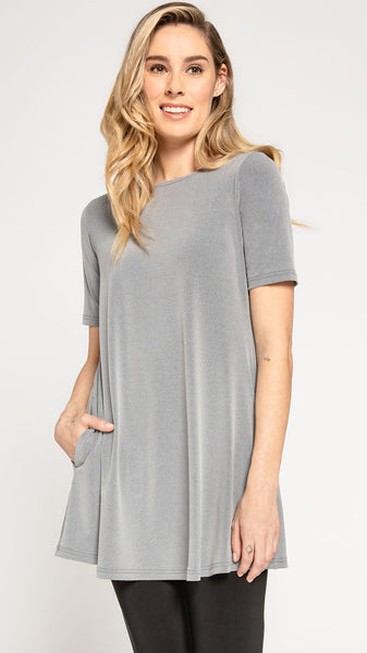 Sympli Trapeze Tunic Short Sleeve