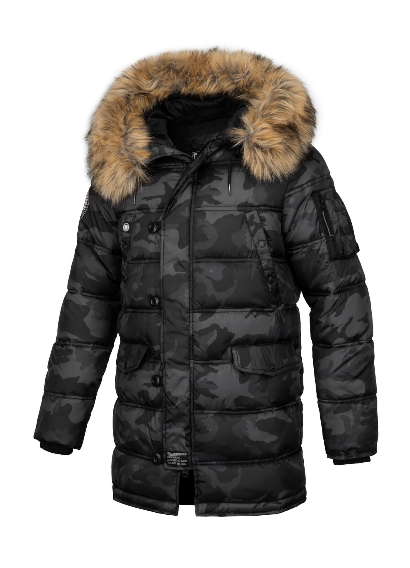 Kurtka Parka KINGSTON All Black Camo - kup z Pit Bull West Coast Oficjalny Sklep