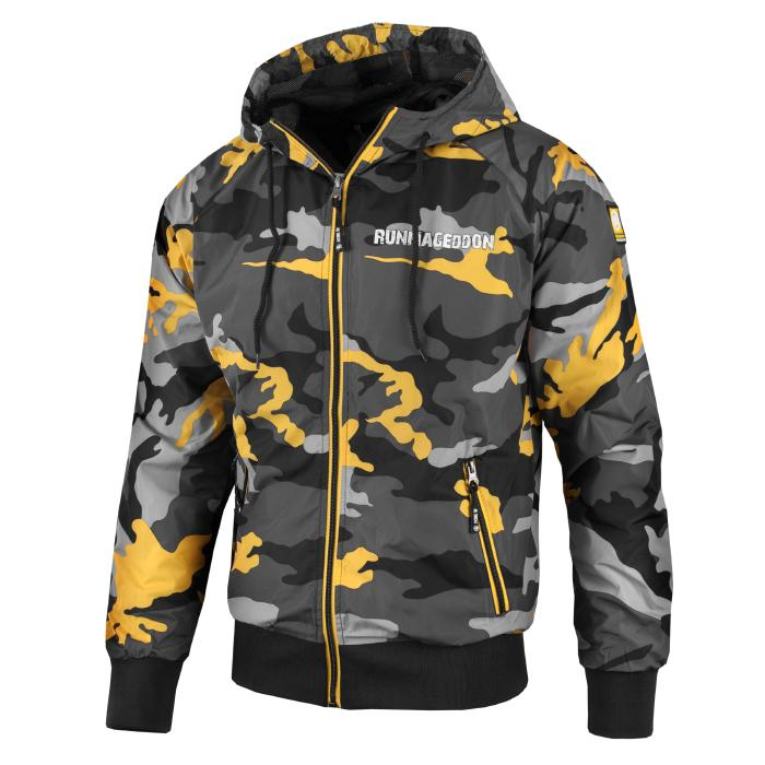 Nylonowa Kurtka Athletic RUNMAGEDDON Yellow Camo