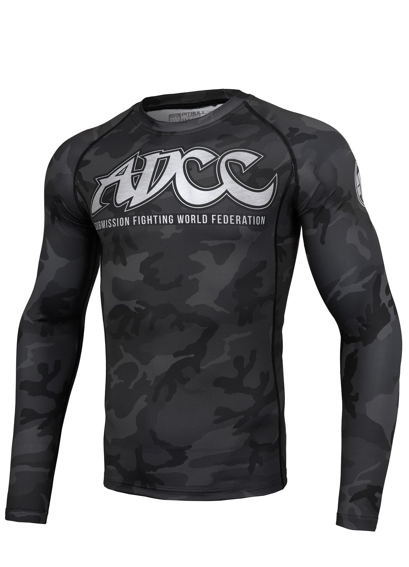 ADCC ALL BLACK Long Sleeve Rashguard