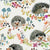 Hedgehogs Fabric in White