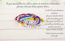 Load image into Gallery viewer, Custom Name Bracelet | Glass Seed Bead Stretch
