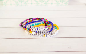 Custom Name Bracelet | Glass Seed Bead Stretch