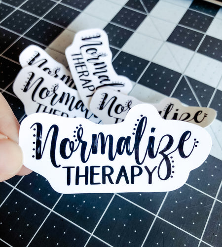 Simply Scripted Normalize Therapy Sticker | Water Resistant Sticker