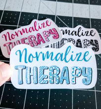 Load image into Gallery viewer, Normalize Therapy Sticker | Water Resistant Sticker