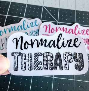 Normalize Therapy Sticker | Water Resistant Sticker