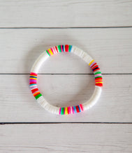 Load image into Gallery viewer, 6mm Rainbow Bracelet | Polymer Clay Discs
