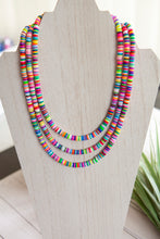 Load image into Gallery viewer, Rainbow Necklace | Polymer Clay Discs