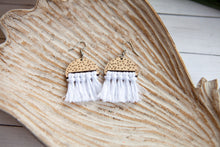 Load image into Gallery viewer, Boho Tassel Earrings | Wood and Macrame