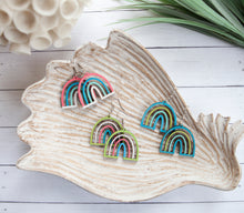 Load image into Gallery viewer, Painted Rainbows | Wood Earrings