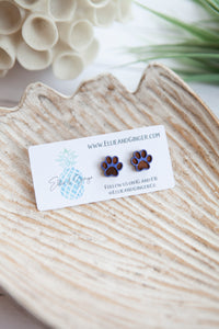 Puppy Paws Post | Wooden Earrings