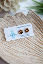 Load image into Gallery viewer, Puppy Paws Post | Wooden Earrings