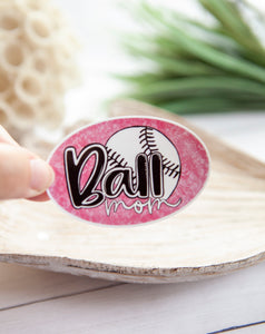 Ball Mom | Water Resistant Sticker
