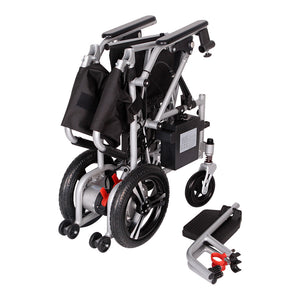 MobilityPlus+ Featherlite Easy-Folding Lightweight Electric Wheelchair | 18.7kg, 4mph, Lithium Battery