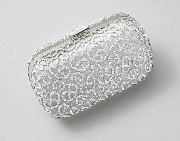 Crystalline Clutch Grey