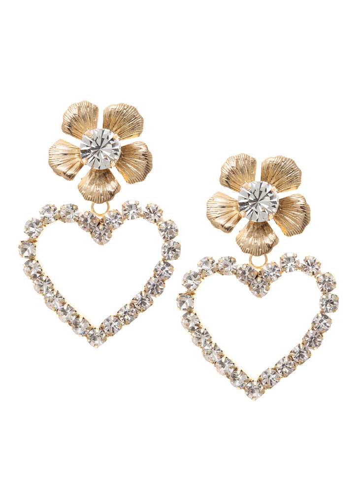 Heartfelt Flower Stud