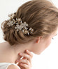 June Crystal Hair Comb Small