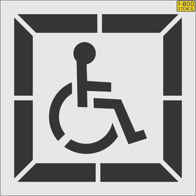 Handicap stencils with a border