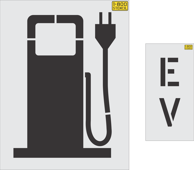"36"" Electric Vehicle logo - gas pump style Stencil"