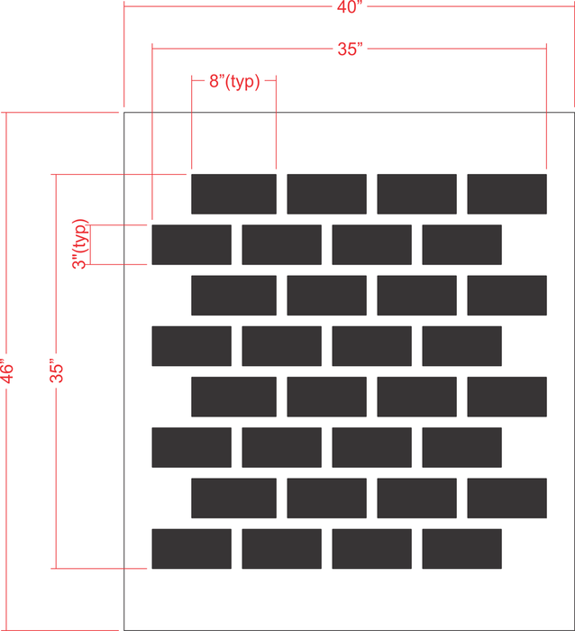 Traditional Brick Pattern Stencil