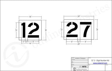 "12"" 2 Digit Number Kit 00-99"