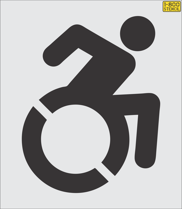 "NYSDOT 39"" Accessible Icon (handicap) stencil"