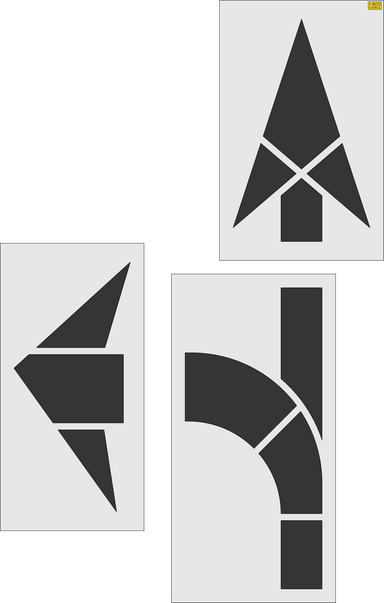 FHWA/DOT Combo Arrow Stencil