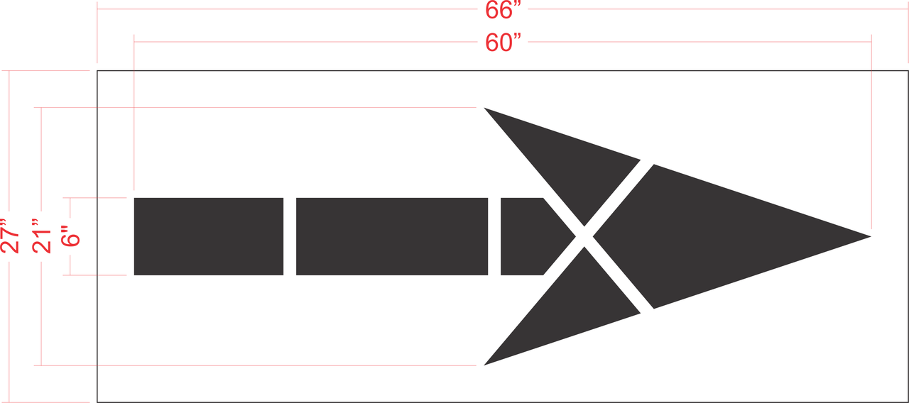 "60"" FHWA / DOT Bike Lane Arrow Stencil"