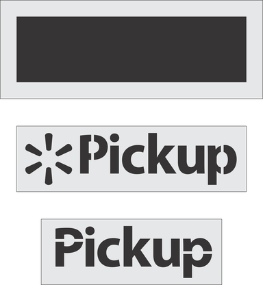 "Walmart ""Pickup"" Stencil 24"" x 84"" (current spec)"