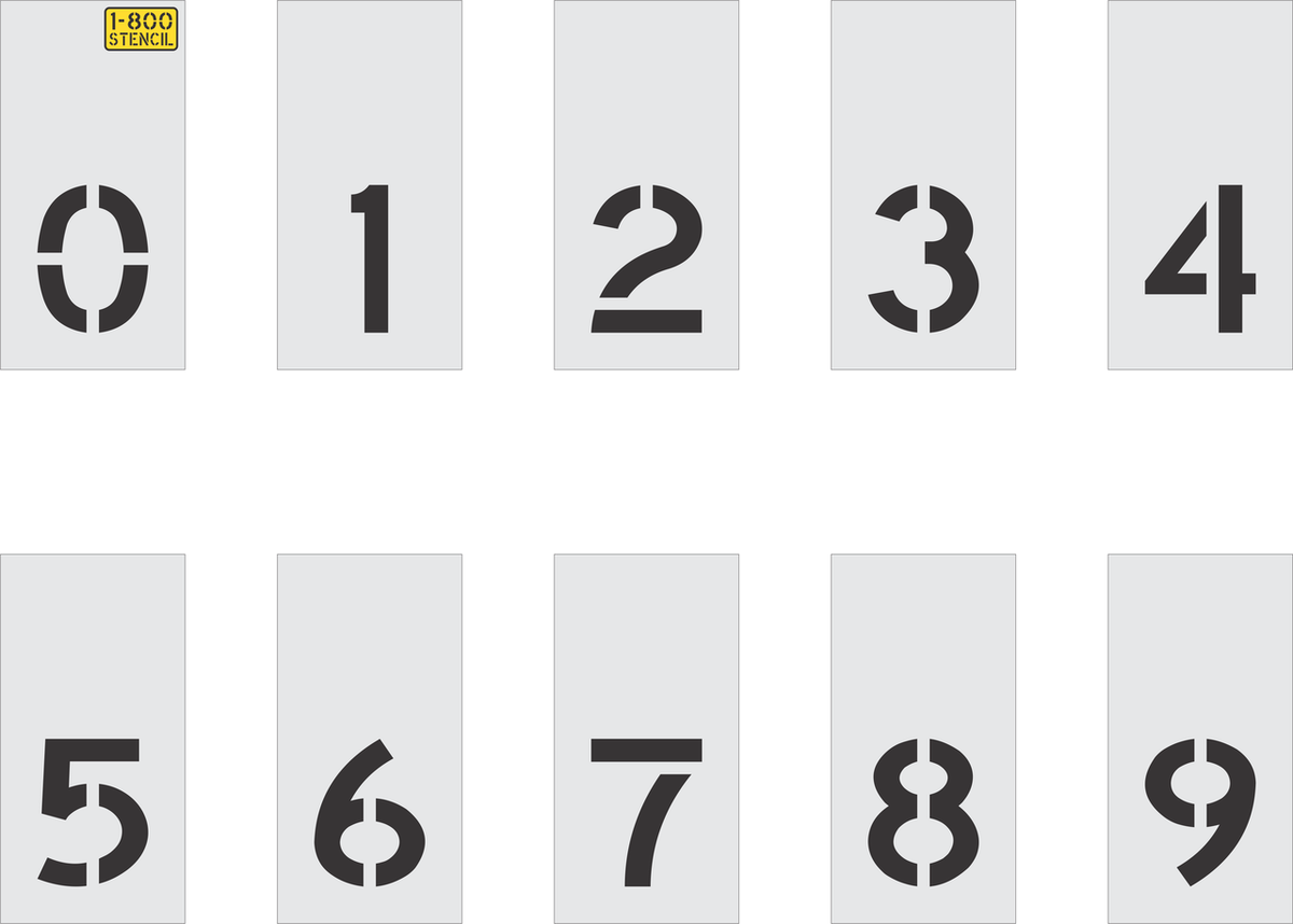 """Curb-N-Sign Curb Painter Complete Stencil//Paint kit 4/"""" Stencil Numbers 2 Sets"""