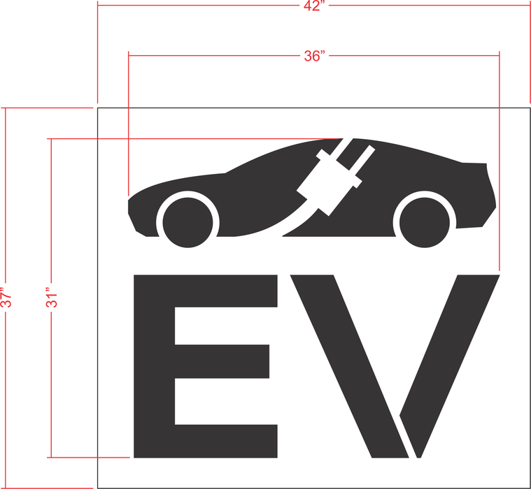 "31"" Electric Vehicle Logo Stencil"