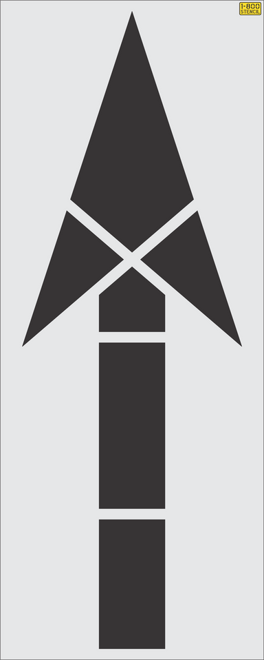 "116"" FHWA/DOT Straight Arrow Stencil"