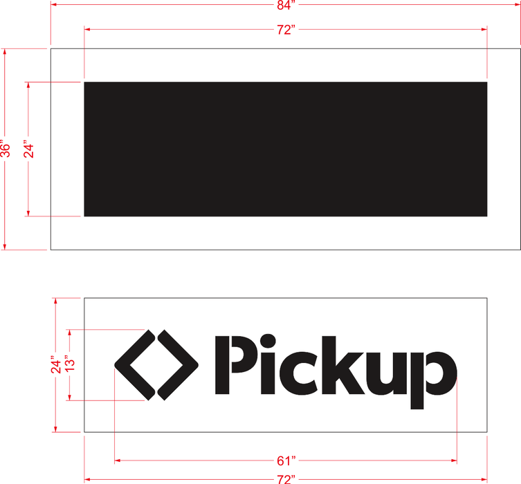 "Sam's Club Pickup Stencil Kit, (2020 spec) - 1/8"" LDPE"
