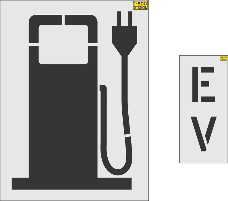 "48"" Electric Vehicle logo - gas pump style Stencil"