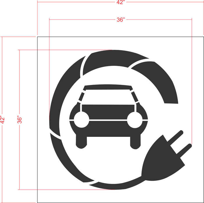 "36"" Electric Car Stencil"