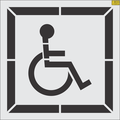 California ADA handicap Stencil (current) - 2016 CalTrans Spec w/ border