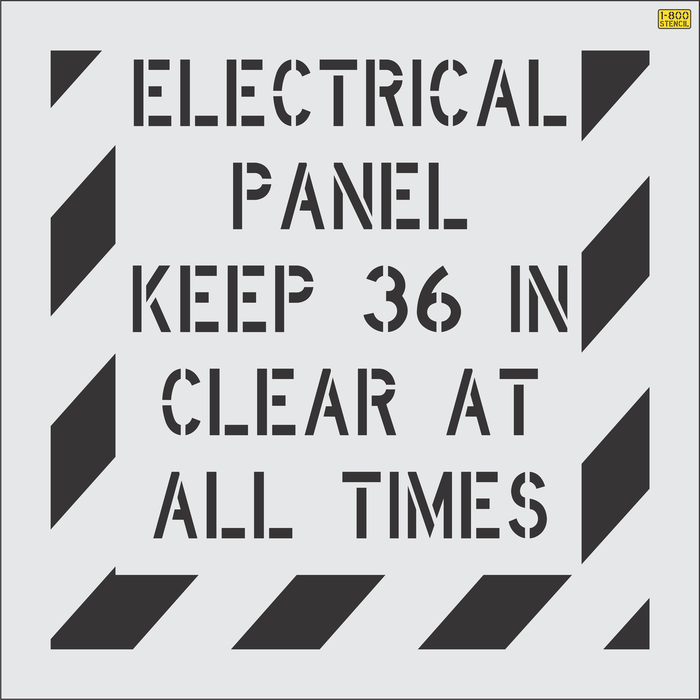 Electrical Panel Keep 36 in Clear at All Times Stencil