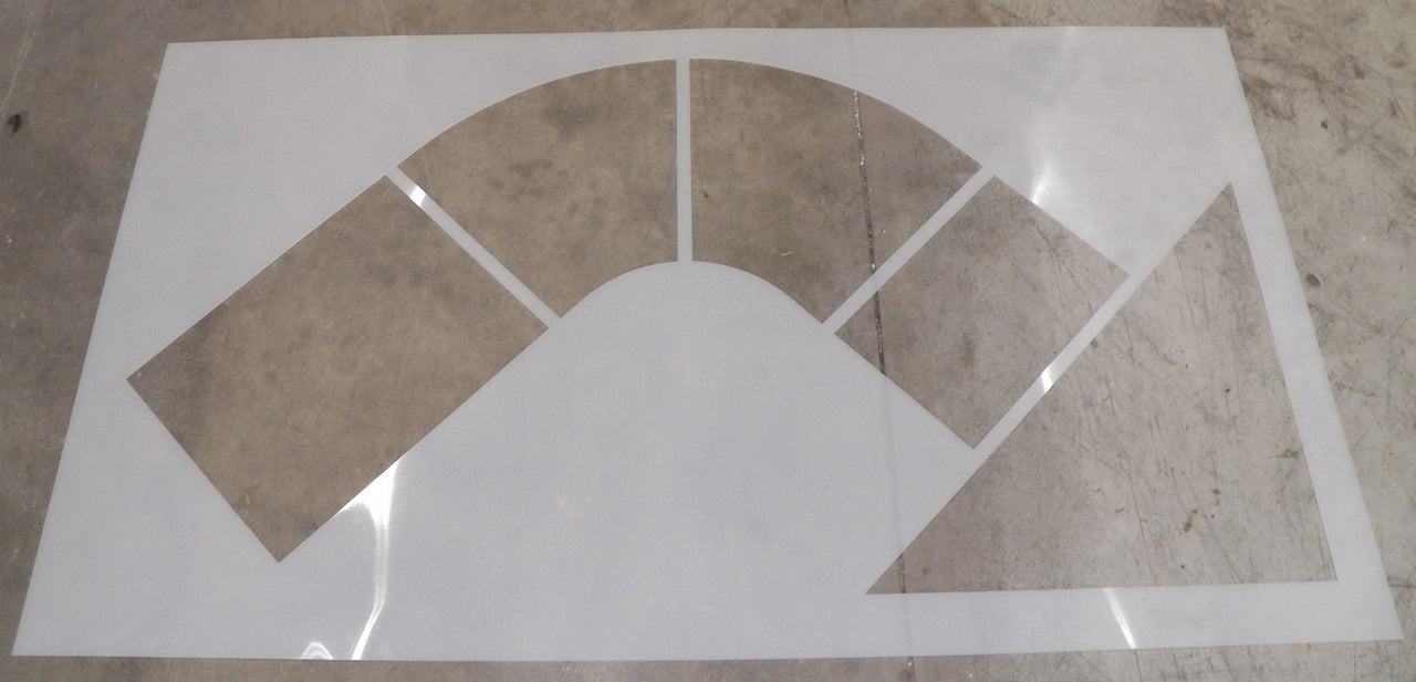 "66"" Walgreens Turn Arrow Stencil"