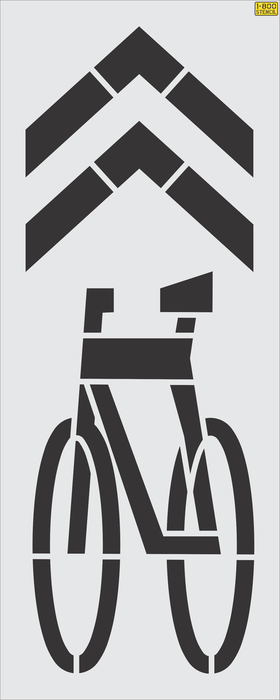 "111"" FHWA/DOT SHARED BIKE LANE Stencil ""Sharrow"""