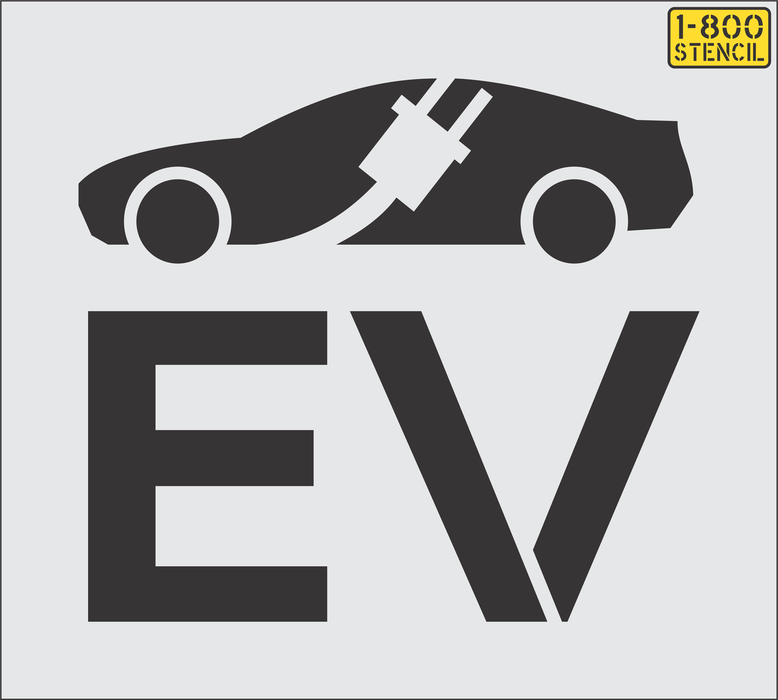 "21"" Electric Vehicle Logo Stencil"