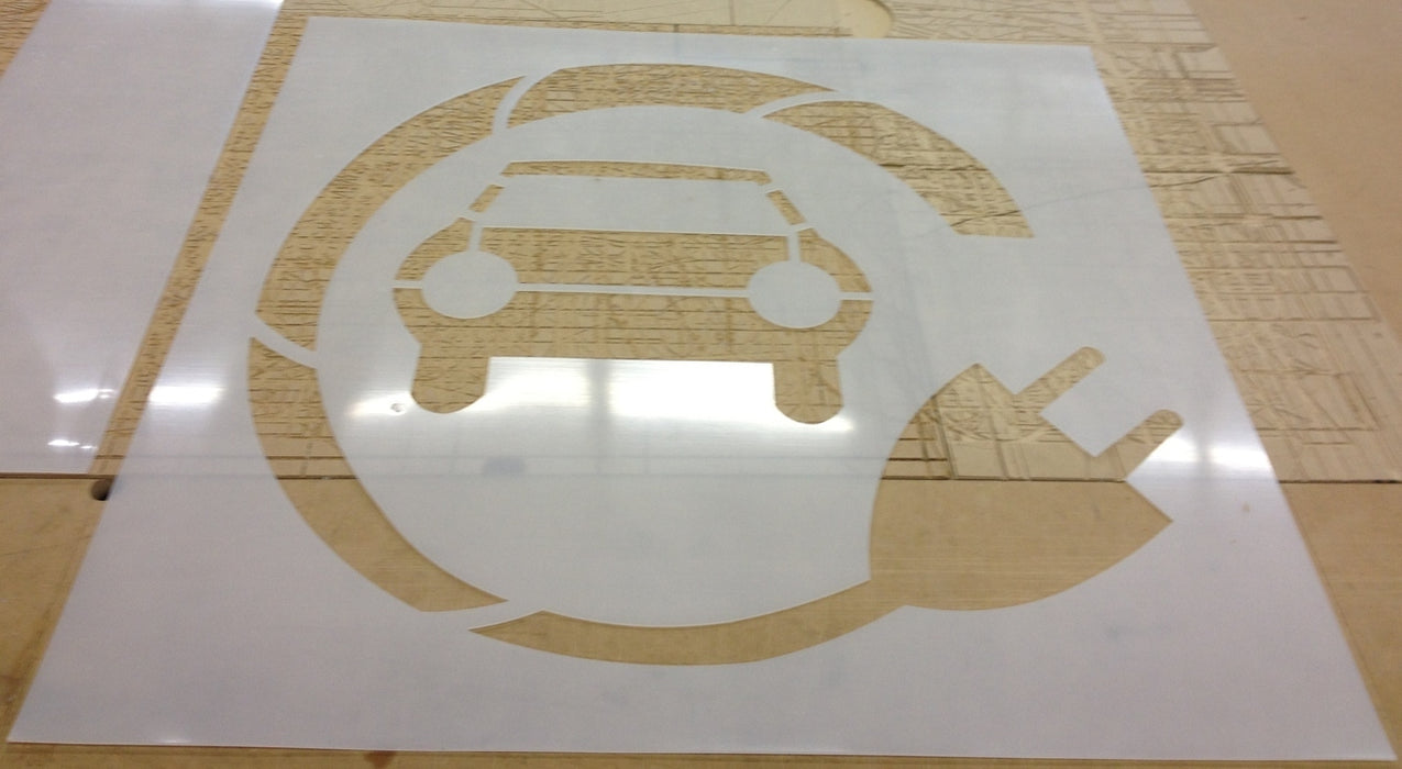 "42"" WALGREENS ELECTRIC CAR Stencil"