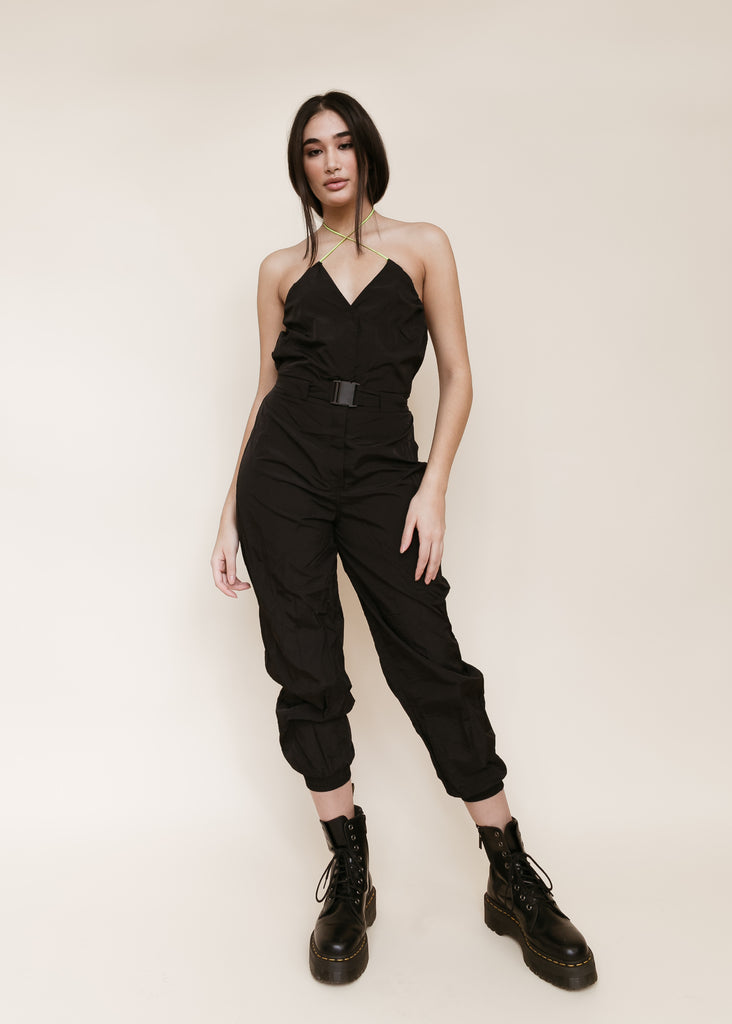 Whip A Tesla Nylon Drawstring Jumpsuit