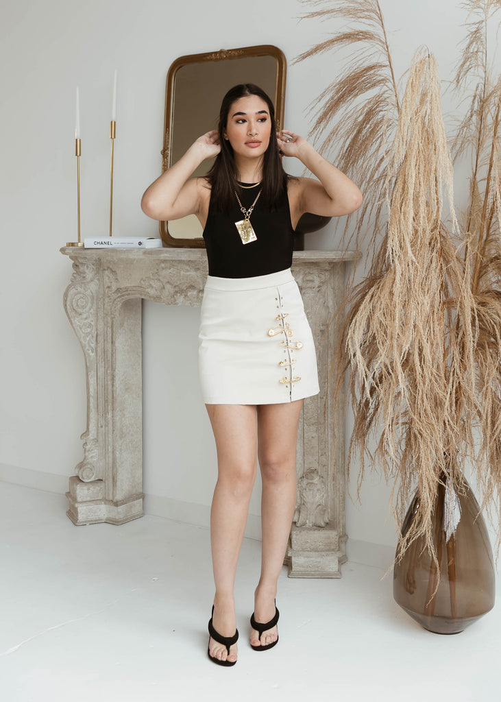 Heartbreaker Mini Skirt | Cream